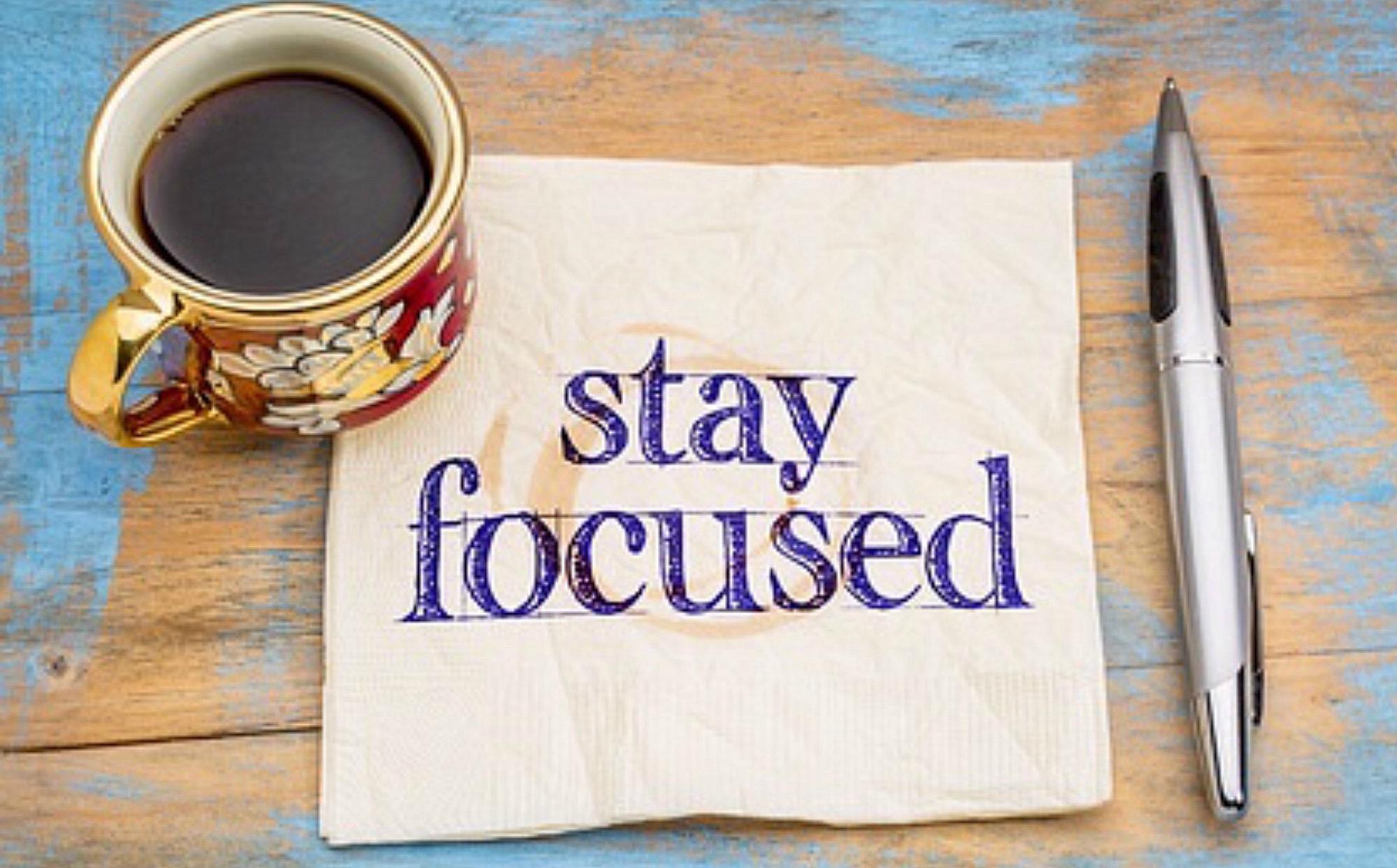Focus behouden