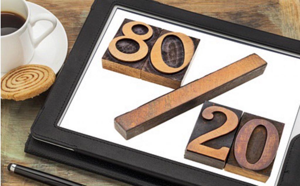 slim doelen stellen met de 80-20 regel